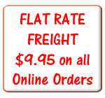Flat Rate Freight of $9.95